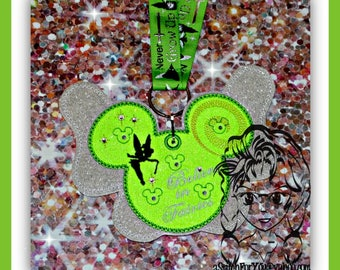 FAiRY TiNY NeVER LaND Pin Lanyard Display Mouse HeaD Trader ~ ITH Mr Miss Mouse Inspired Photo Prop ~ INSTANT Download Design by Carrie