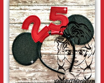 NUMBeRS BiRTHDAY BuNDLe EaRS (12 Piece) Mr Miss Mouse Ears Headband ~ In the Hoop ~ Downloadable DiGiTaL Machine Emb Design by Carrie