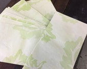 16 pieces green leaf paper
