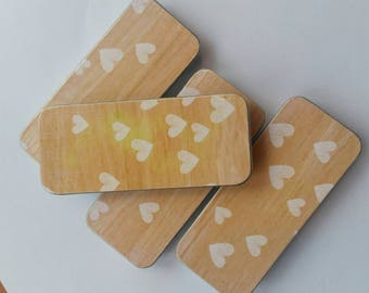 Long thin tin. . . Wood and Hearts