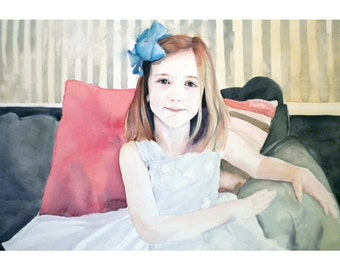 16x20 Custom Watercolor  Portrait