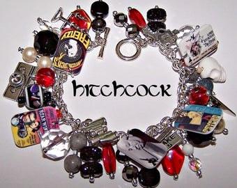 ALFRED HITCHCOCK Mystery Charm Bracelet