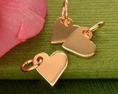Rose gold heart charm. DIY jewelry, add to your necklace or charm bracelet.