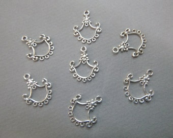 DESTASH - Sterling Silver Earring/Jewelry Drop 21x17mm