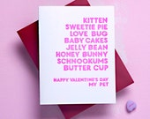 Honey Bunny Valentines Card