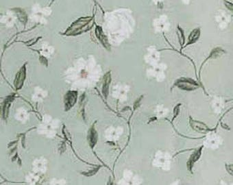 LAST PIECE - One Yard Waverly Magnolia Vine Sage Floral Home Decorating Fabric