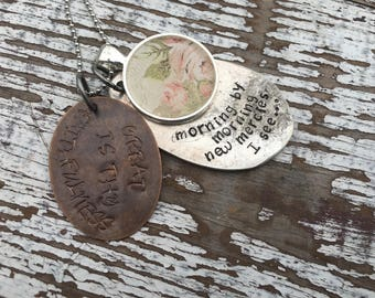 Spoon Necklace-Stamped Jewelry-Great is His Faithfulness