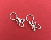 Sterling Silver Chiisana Ha Earrings V2