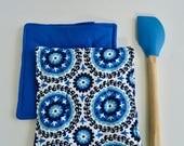 Hot Pads - Modern hot pads - Trivet - Pot holder - Blue Hot Pads - Wedding Gift - Bakers Gift - Kitchen Accessories - Blue Potholder