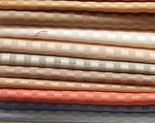 CLEARANCE - 18 pieces stripe silky fabric, each 5 x 10 inches