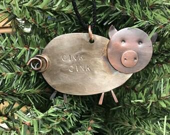 Spoon Pig Ornament