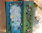 Sparkling Sea - Altered Mermaid Journal - Book of Shadows - Mermaid Fantasy Art by Molly Harrison