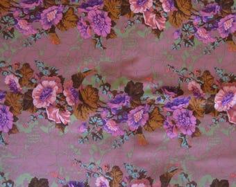 Phillip Jacobs Hollyhocks  PJ09 cotton fabric  Rowan Fabrics OOP