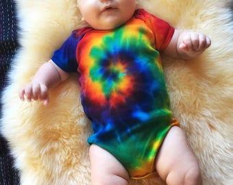 Tie Dye Baby - Rainbow Onesie