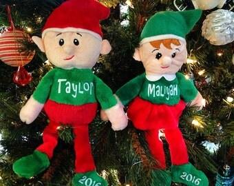 Personalized Elf - Boy Elf - Girl Elf - Christmas Elves - Christmas Elf - Christmas Buddy - Holiday Elf - Elf Buddy