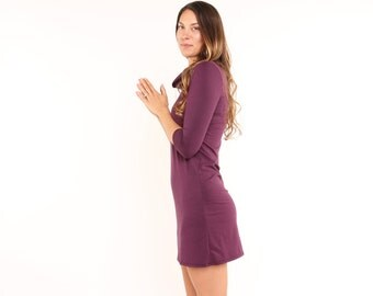 SALE Everyday Cowl Dress Plum Sizes Small Large Ready to Ship