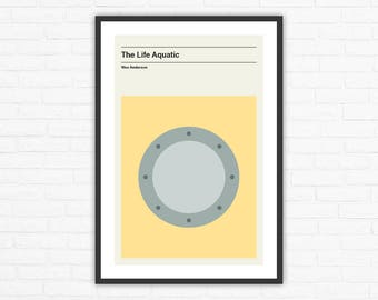 Wes Anderson, The Life Aquatic Minimalist Movie Poster