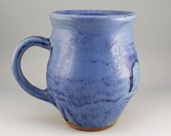Rustic Mug, Stoneware Mug, Cobalt Blue Mug, Handmade Ceramic Mug