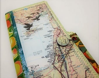 Travel Journal -  The Middle East - One of a kind hand crafted blank book