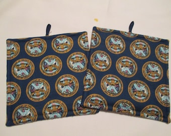 Pot holders, U S Army, military, hot pad, baking, oven, trivet, kitchen and dining, home & living, housewares, table, dining room, patio