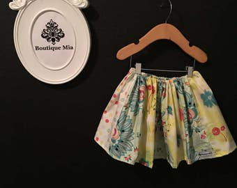 Sample SALE - Will fit Size 18-24 month to 4T - Ready to MAIL - SKIRT -  Circus - Patchwork Sherbet - by Boutique Mia