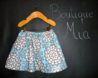 Sample SALE - Will fit Size 3T to 5T - Ready to MAIL - SKIRT -  Amy Butler - Wallpaper - by Boutique Mia