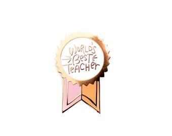 World's Best Teacher, Enamel Pin