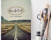 Black Friday SALE: Wanderlust 2017 Calendar, 2017 Desk Calendar, Travel Photography, Stocking Stuffer, Traveller Gift Under 20, 5x7