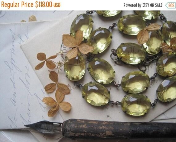 SALE Anna Wintour necklace, yellow statement Necklace, j. Crew, pale yellow necklace, georgian jewelry, collet necklace.