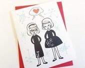 Lesbian Valentines Day Card. Lady Love Card. LGBT Wedding Card. Card for Lesbian Girlfriend. Lesbian Wedding Card. Lesbian Couple Card. LGBT