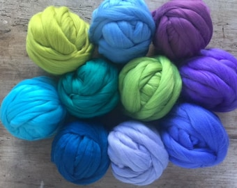 merino soft fleece felting wool 22 micron roving weaving craft spinning