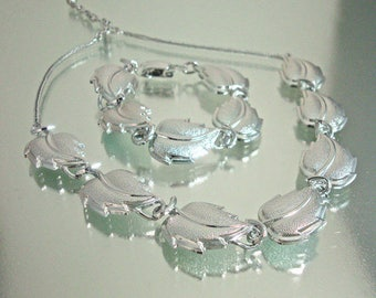 Vintage Aluminum Necklace and Bracelet Germany