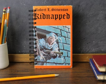 Recycled Book Journal -Kidnapped- blank journal made from a recycled vintage book