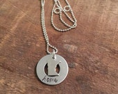 State charm necklace-home washer necklace-ALL STATES AVAILABLE-custom state necklace