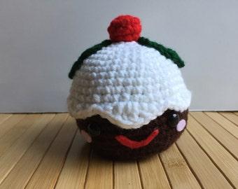 Large Christmas Pudding - Amigurumi Dessert Doll