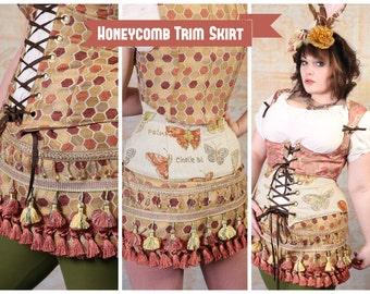 S - Honeycomb Trim Skirt