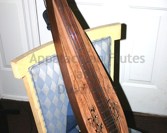 Virginia Dogwood 4-string TEAR-DROP Mountain Dulcimer - Optional Electric