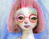 Bee - 9x12 original watercolor