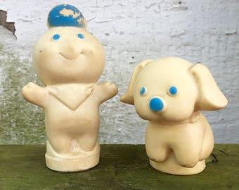 Pillsbury Poppin Fresh Finger Puppets Set of 2 Vintage 1970s