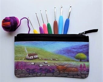 Printed Multipurpose Zip Pouch Bothy and Coo Design