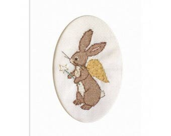Bunny Angel Cross Stitch Pattern Downloadable PDF Christmas Belle and Boo