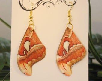 ღ Hand Made Faux Moth Wing Earrings