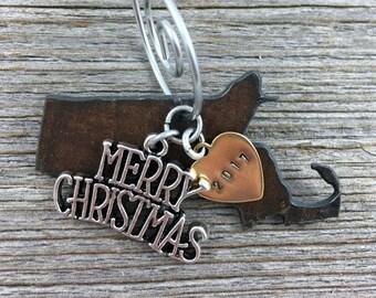 MASSACHUSETTS Christmas Ornament SMALL, MASSACHUSETTS Ornament, Christmas Gifts 2017, Personalized Gift, State Christmas Ornaments