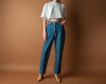 RALPH LAUREN baggy denim jeans / high rise tapered jeans / 10 / 30 W / m / l / 2083t / B10
