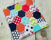 SALE! Ready to Ship - Primary Hexagons - Reusable Sandwich Bag | Snack Bag | Waterproof | Travel Bag from green by mamamade