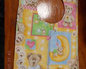 MadieBs Little Bears Hearts Moon  Baby Bib