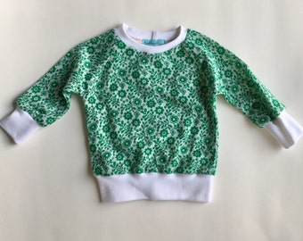 Retro green floral shirt