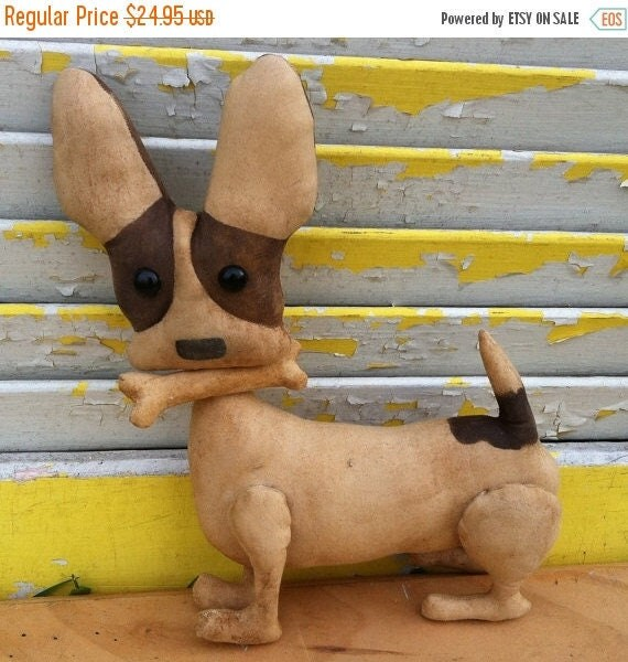 Welcome Spring Sale Primitive Brown Chico Chihuahua