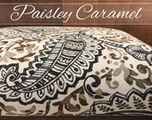 Dog Bed Cover, Paisley Cover, Blue Cover, Brown Cover, Dog Bed Duvet, Pet Bed Cover, Cat Bed Cover, Designer Dog Bed Cover