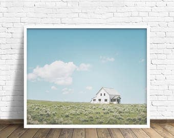 "colorful landscape wall art, farmhouse wall art, farmhouse art prints, large wall art, colorful landscape photography, art - ""A Simple Life"""